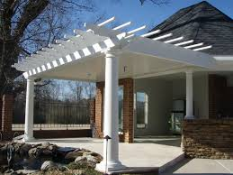 Pergola Rafter Tails by Arbors Direct Fiberglass Round Tapered Column Pergola Attached To