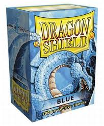 dragon shield blue 100ct standard sized sleeves arcane tinmen