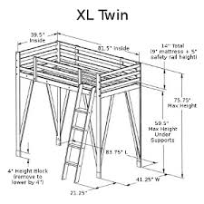 Make Wooden Loft Bed by Build Wooden Extra Long Twin Loft Bed Plans Plans Download Fine