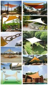 china 100 virgin hdpe material backyard square sun shade sail