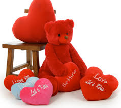 valentines day bears s day teddy bears 32in with plush heart
