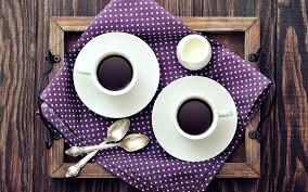 wood tray spoon morning coffee cups wallpaper drink wallpaper