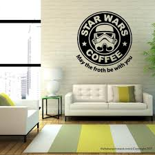 aliexpress com buy removable star wars coffee parody starbucks aliexpress com buy removable star wars coffee parody starbucks wall decal stickers vinyl home decor room mural sticker gw 48 from reliable mural sticker