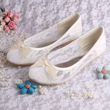 ballerine mariage wedopus mw029 ivoire dentelle ballerine appartements de