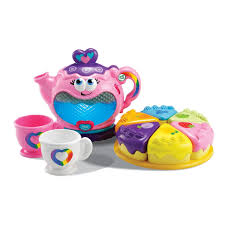 the illuminating leapfrog musical rainbow tea party set toy and