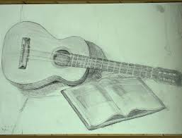 pencil sketch guitar wallpaper 3d pencil droinge gitar drawing