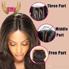 short hairstyles with closures 7a free side middle three part closure best virgin body wave
