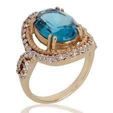zirconia stone rings images Rings latest design topaz colour stone finger ring for women at jpg