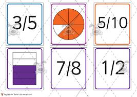 pet fractions matching cards premium printable classroom