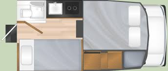 Truck Camper Floor Plans by Motorhome Hire Specialists In Canada