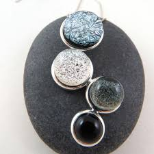 shades of gray ombre cascade necklace u2013 glass elements