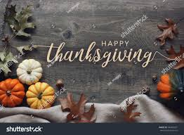 happy thanksgiving script pumpkins leaves stock photo