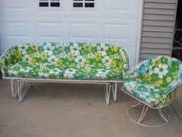 Homecrest Outdoor Furniture - move a vintage patio set by homecrest glider sofa chair to long