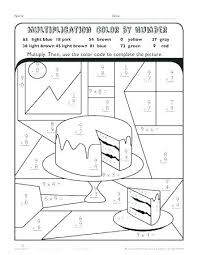 coloring multiplication worksheets winter math worksheets coloring