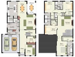 Two Family House Plans Plan Piper Floor Has Double Garage And Very