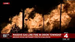 gas line erupts near great lakes crossing mall