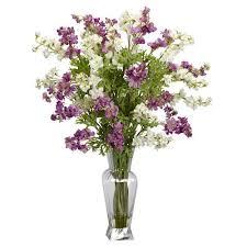 Silk Flower Centerpieces Tori Home Dancing Daisy Silk Flower Arrangement With Planter