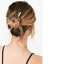 chopstick hair 2 colors personality geometry hair clasp minimalism alloy