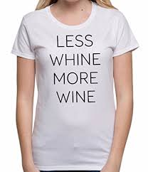 less whine more wine slogan tee alcohol wine lover womens https