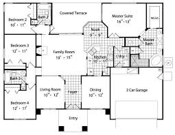 4 bedroom house plans 2 4 bedroom house floor plans marvelous 10 ranch house plans plan