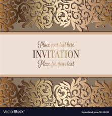 luxury wedding invitations antique luxury wedding invitation gold on beige vector image