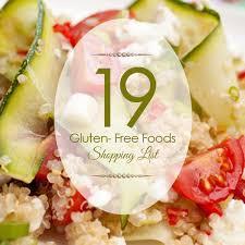 gluten free foods shopping list