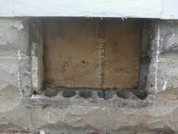 Replacing A Basement Window by Framing A New Basement Window In Cinder Block Home Improvement