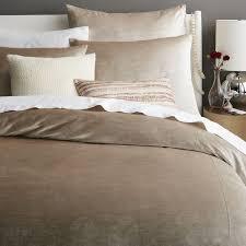 West Elm Bedroom Sale Washed Cotton Luster Velvet Duvet Cover Shams Stone West Elm King
