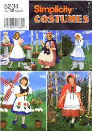 Girls Size 5 Halloween Costumes Simplicity 8234 Sewing Pattern Girls Red Riding Hood Bo Peep Dutch