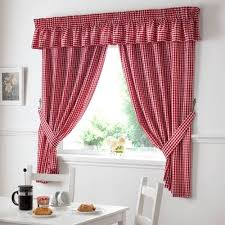 Curtains With Red Add Country Styling To Your Kitchen With Red And White Gingham