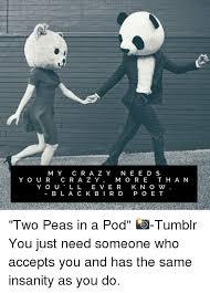 Two Peas In A Pod Meme - m y c r a z y n e e d s y o u r c r a z y m o r e t h a n y o u l l e