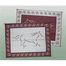 patio mats 9x12 u0027 reversible mat horse design 158202 rv
