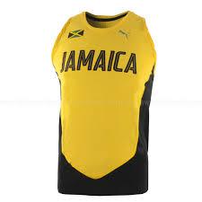 Jamaican Flag Shirt Puma Lightweight Men U0027s Running Singlet Yellow Green