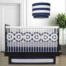 Navy Blue And White Crib Bedding by Stop Toddlers From Climbing Out Of Crib Popsugar Moms
