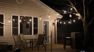 String Lighting For Patio Commercial Grade Outdoor Led String Lights W 10 Led Filament