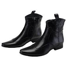 best quality santimon mens cowboy boots leather wingtip western