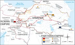 Roman Map Map Roman Parthian War 58 60 Ad Illustration Ancient History