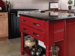 phoenix az merillat red kitchen island black granite countertop