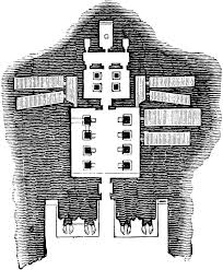 floor plan of the great temple at abu simbel clipart etc