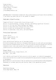 Pizza Delivery Driver Resume Cover Letter For Bus Driver Position