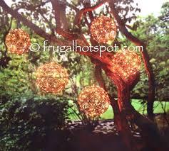 costco sale inside outside garden lighted spheres 2 pk 39 99