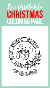 printable christmas coloring page