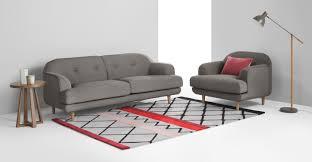 3 sitzer sofa gracie 3 sitzer sofa mondsteingrau made com