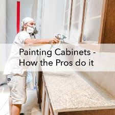 is it better to paint or spray kitchen cabinets painting cabinets how the pros do it paper moon painting