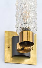Brass Wall Sconce Murano Cut Glass Wall Sconces Jean Marc Fray