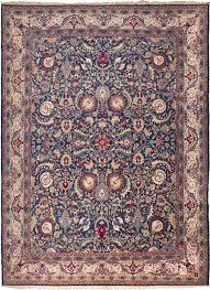 Persian Rugs Nyc by Antique Carpet With Saz Style Leaves And Hamsa Motifs At The