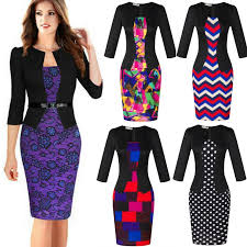 fashion office lady pencil dresses women business attire