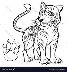 coloring page tiger paw paw print coloring page384858 emporors new groove coloring pages po