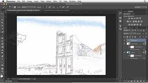 creating a line drawing with the trace contour filter