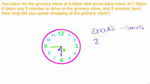 Basic Math Word Problems Worksheets Basic Math Tutorial 11 Word Problems With Time Youtube